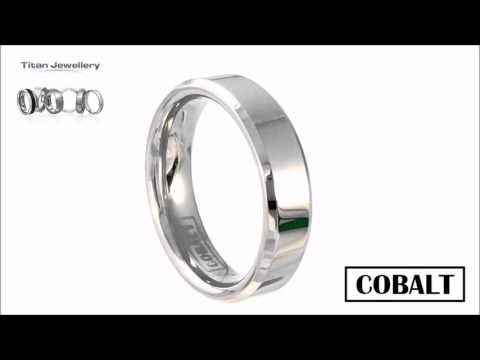Men's 6mm Chamfered Polished Cobalt Wedding Ring