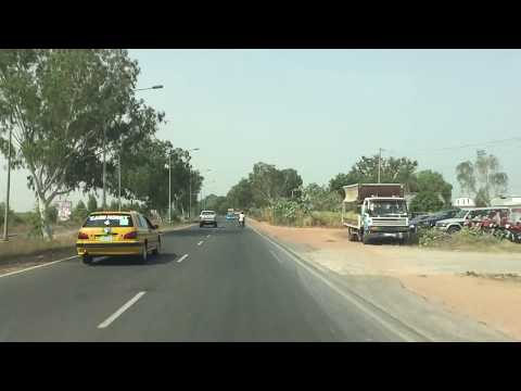 Driving on Banjul-Serekunda Hwy with Dodoo Faal