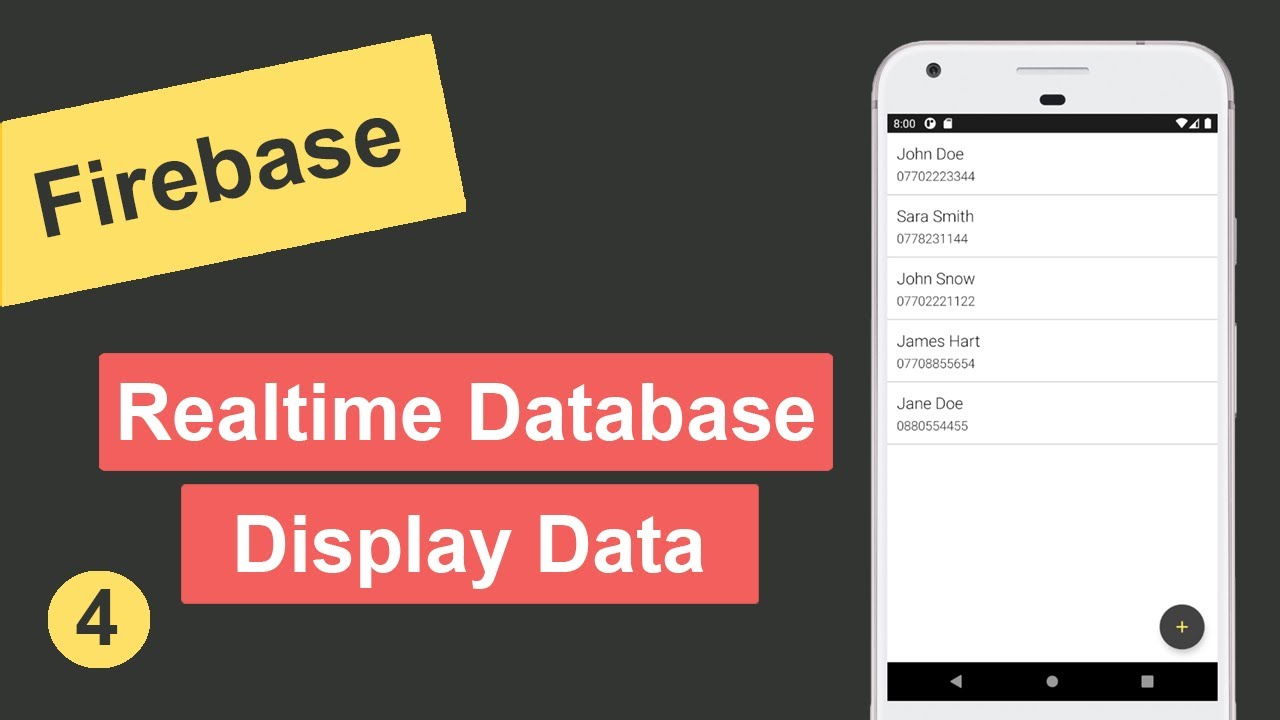 Display Data from Firebase Realtime Database in Android Studio #4