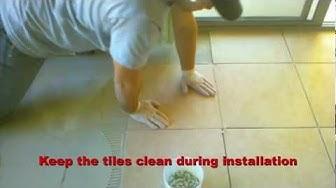 How to install tile video, DIY tile installation. Chandler-Phoenix-Arizona tile installation company