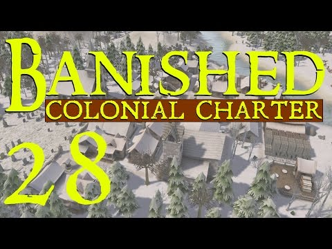 Banished Mods Gameplay - Part 28 - The Inn by the Lake (Colonial Charter Mod Let's Play)