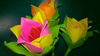 Цветы из бумаги (Розы). Подарки День:Учителя Матери Рождения Поделки своими руками Origami Rose