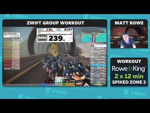 #WorkoutWednesday - Rowe & King - Spiked z3 Zwift Workout