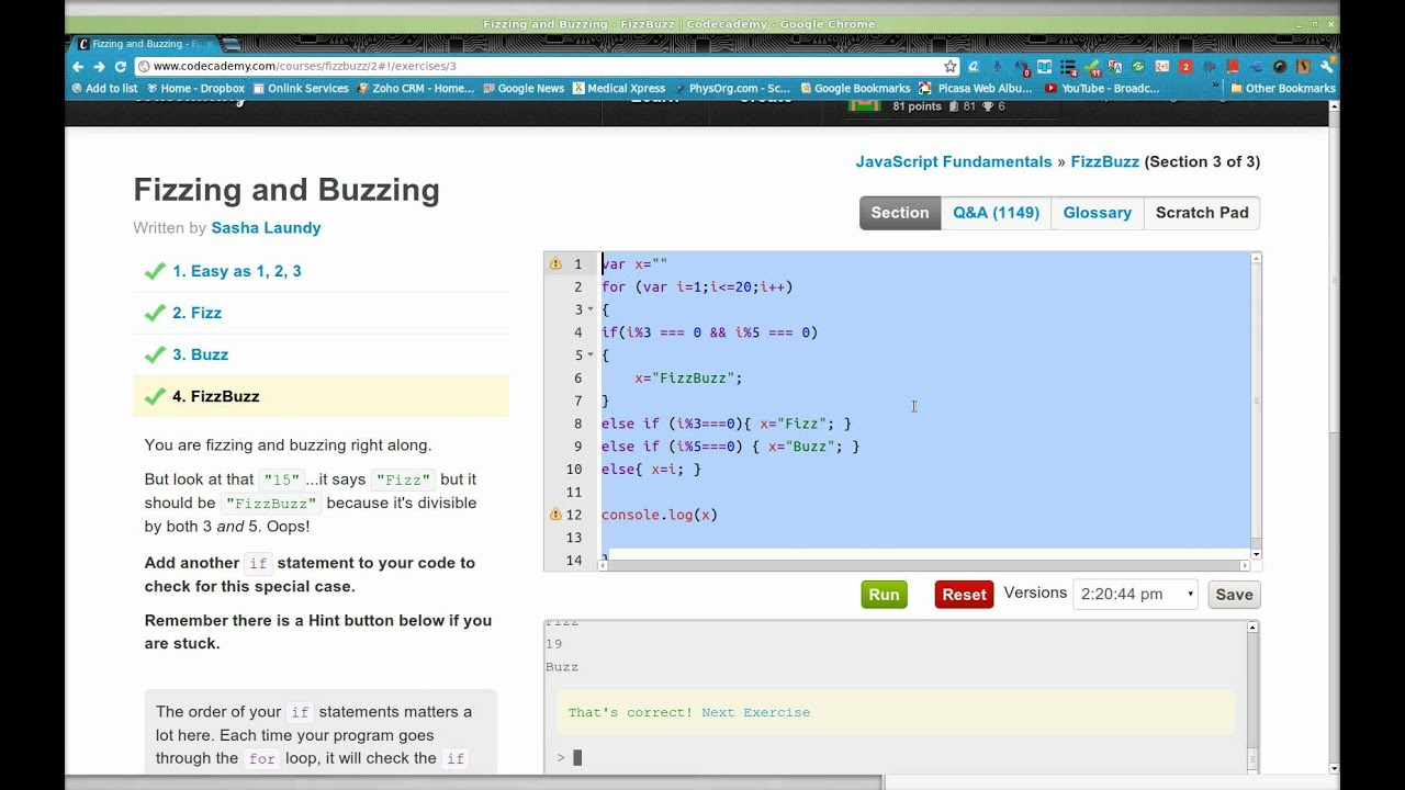 Hackerearth fizzbuzz solution