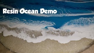 Crashing Waves Resin Ocean Pour / Adding a 2nd Layer #asmr #resin #epoxy #fluidart #resinart #art