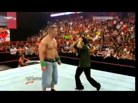 WWe funny Korean guy hits John Cena!!!