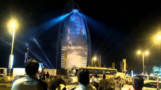 Firework In Burj Al Arab During UAE National Day