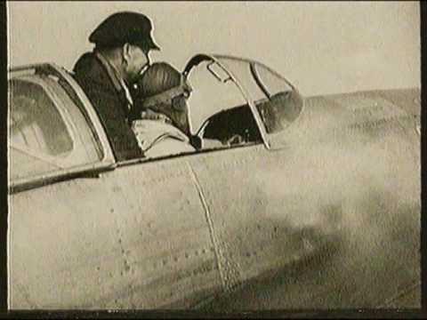 Heinkel He 100-V8 vor dem Start und Hans Dieterle