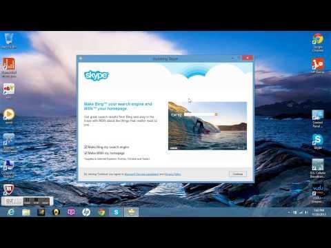 how to set up Skype for desktop