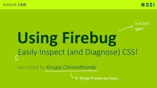 Using Firebug to Deal with CSS