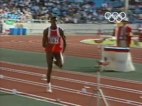 Carl Lewis Wins Long Jump Gold - Seoul 1988 Olympics