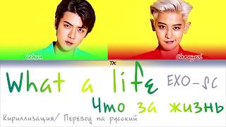 Обложка EXO SC WHAT A LIFE Color Coded Lyrics КИРИЛЛИЗАЦИЯ ПЕРЕВОД НА РУССКИЙ