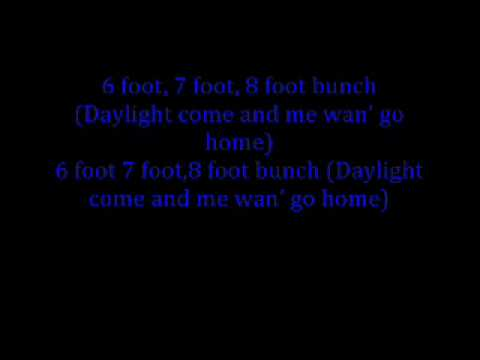 Harry Belafonte - Banana Boat Song (lyrics)