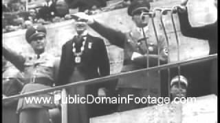 Jesse Owens Wins Gold at Berlin Olympics 1936 Newsreel PublicDomainFootage.com
