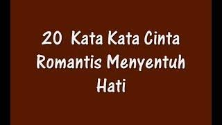 20 Kata Kata Cinta Romantis Menyentuh Hati