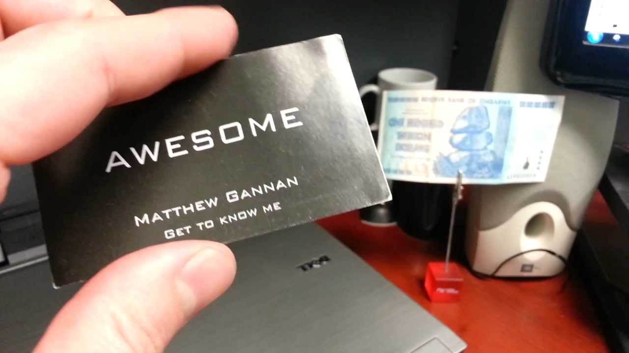 Best business card ever awesome youtube best business card ever awesome colourmoves