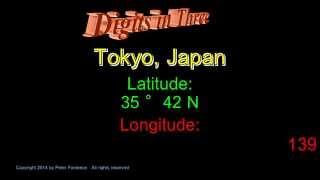 Tokyo Japan - Latitude and Longitude - Digits in Three
