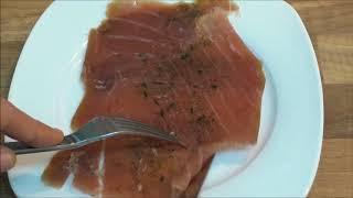 Deluxe Thunfisch Carpaccio im Test! Video auf Deutsch -   deluxe lidl