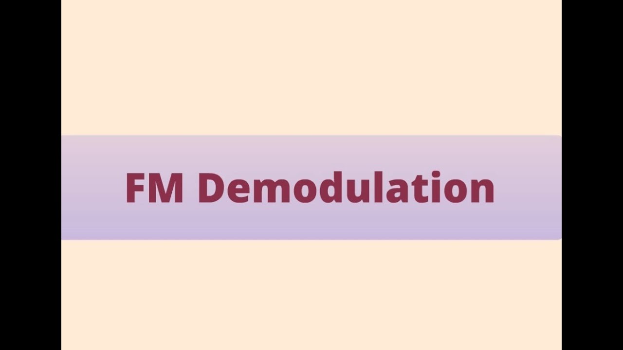 Fm Demodulation Stages And Types Of Demodulators Prezi Youtube Pll Demodulator Circuit Schematic Diagram