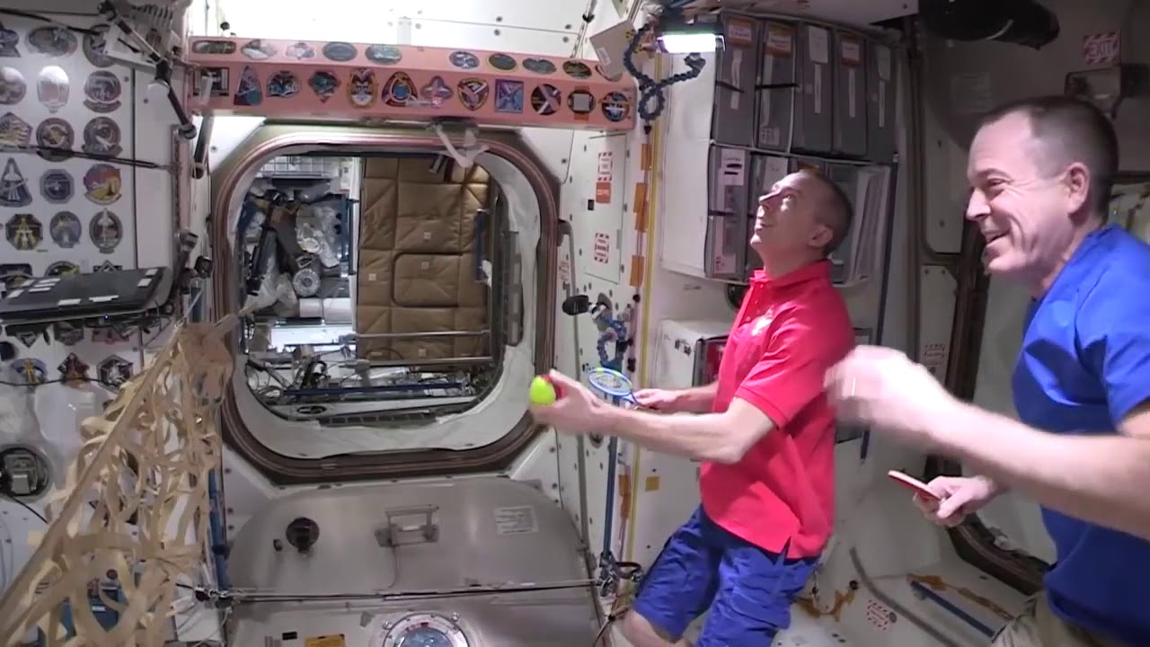 Astronauts Playing Tennis in Space Station HD video | NASA Space Videos
