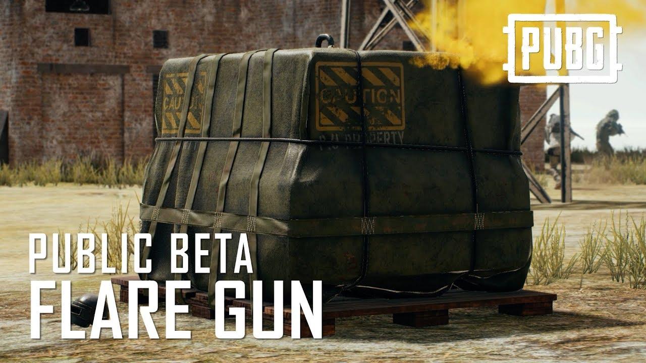 Pubg Public Beta Flare Gun Youtube