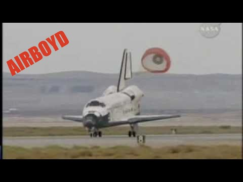 space shuttle landing at edwards air force base - photo #2