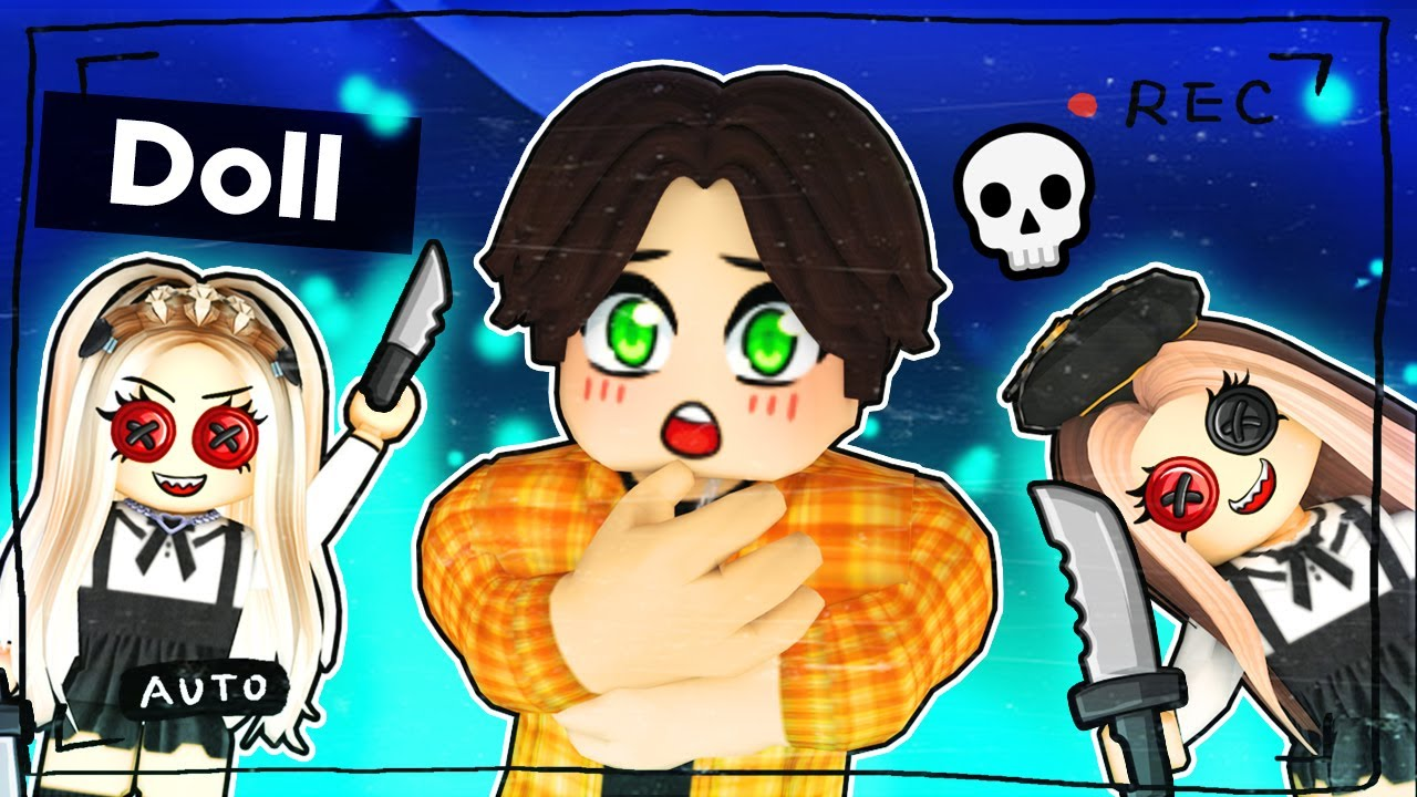 Hiding from the CREEPY DOLL in Roblox!