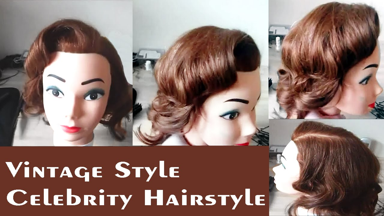 Vintage Style Celebrity Hairstyles For Long Hair: Easy Curly Hair Updos