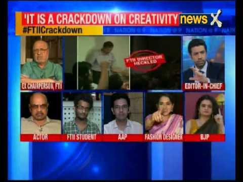 Nation at 9: By wading into the FTII row have netas made it more difficult to find a solution?