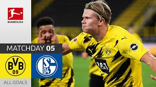 Haaland Scores in the Revierderby | Borussia Dortmund - FC Schalke 04 | 3-0 | All Goals | Matchday 5