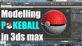 Modelling a Pokeball in 3Ds Max | Beginners Modelling Tutorial