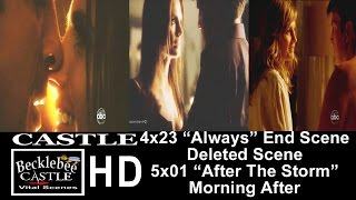 "Castle 4x23 ""Always"" End Scene Kiss Deleted Scene (Brightened) 5x01 ""After The Storm""  (HD)"