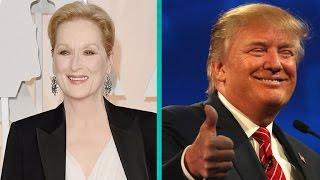 Meryl Streep Puts on Orange Face to Impersonate Donald Trump