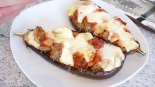اروع وأسرع وجبة بذنجان  على الطريقة الإيطالية لذةةةة في المذاق 😋😋ابني ريان يسلم على غزالات  أمه 😂