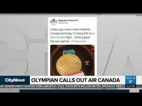 Business Report: Canadian Olympian calls out Air Canada