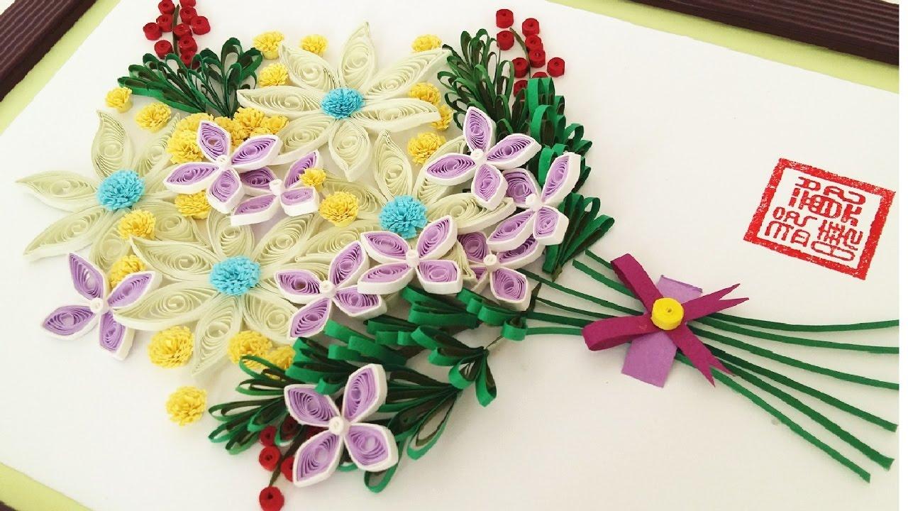 paper quilling flower for beginner learning video 10