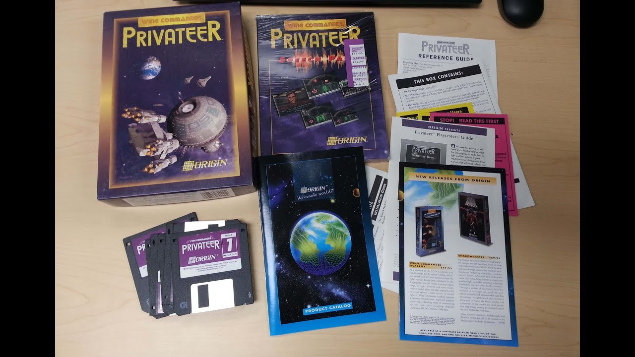 Game Box Review 16 Wing Commander Privateer Youtube