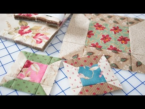 Easy Spool Quilt Block Featuring Precut Fabrics by Edyta Sitar - Fat Quarter Shop