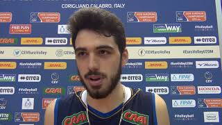 29-04-2018: #EuroVolleyU20M - Daniele Lavia commenta la qualificazione agli Europei U20M