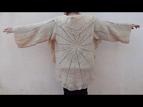 Woven coat in round to crochet