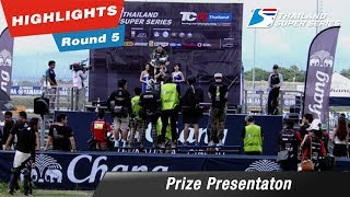 Prize Presentaton Thailand Super Series 2017 : Round 5 @Chang International Circuit