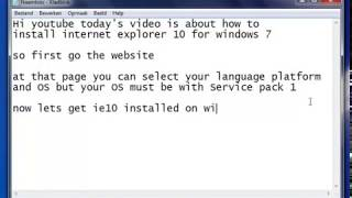 how to install internet explorer 10 on windows 7