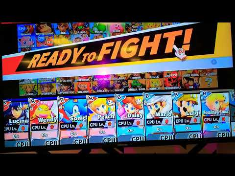 SSBU: Lucina, Wendy, Sonic & Peach VS. Daisy, Mario, Luigi & Rosalina (HALLOWEEN SPECIAL)