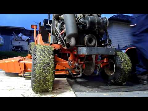 Kubota T1600HST Mower PTO Belts Replaced Different