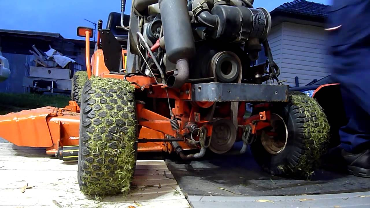 small resolution of kubota t1600hst mower pto belts replaced different catalogue belts youtube