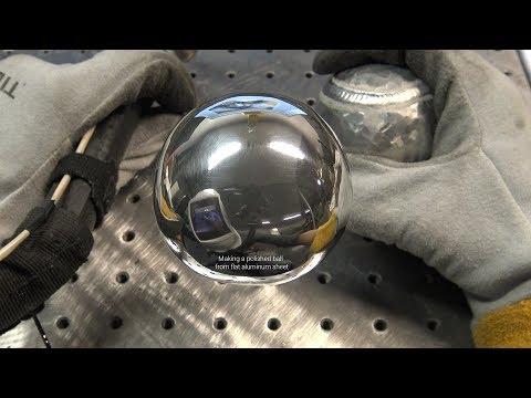 "The American Fabricator Polished Aluminum Ball Challenge - 1/8"" Thick Flat Aluminum Sheet, Not Foil"