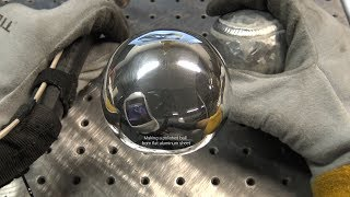 "The American Fabricator Polished Aluminum Ball Challenge - 1/8"" Thick Flat Aluminum Sheet, Not Foil"