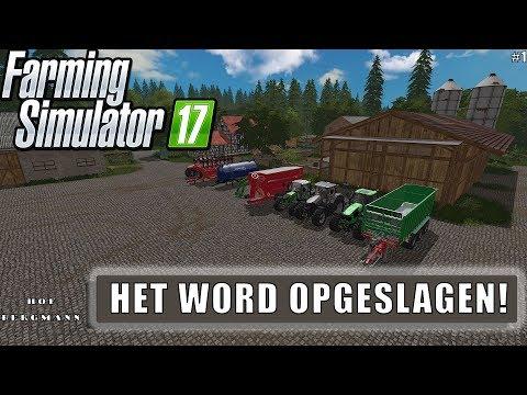 """""""HET WORD OPGESLAGEN!"""" FarmingSimulator 17 Hof Bergmann #1"""