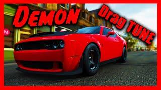 Fastest Drag Tune - DODGE DEMON - How to Tune 2018 Dodge Challenger SRT Demon for Drag (1/4 Mile)