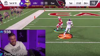 Throne runs the GLITCHIEST scheme in Madden 20...